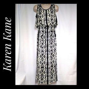 Karen Kane Ikat Design Maxi-Dress Size XL